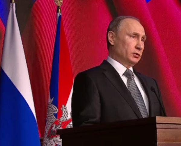 Выступление Путина на расширенном заседании коллегии Минобороны