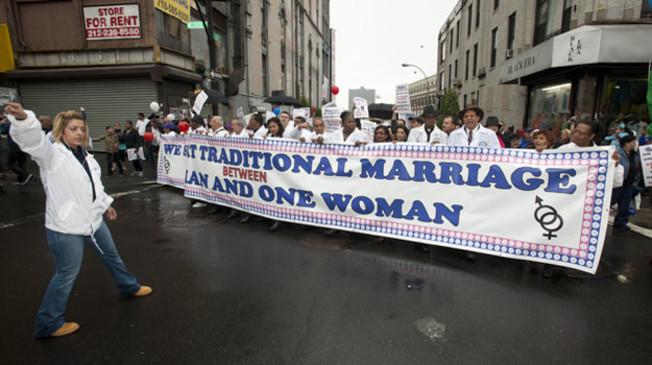 Акция протеста противников гей-браков