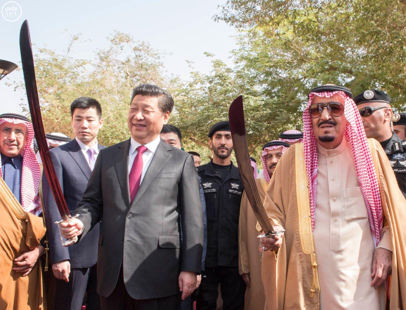 Си Цзиньпин и король Салман бен Абдул-Азиз