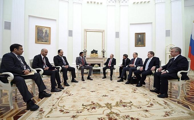 Путин встретился с эмиром Катара