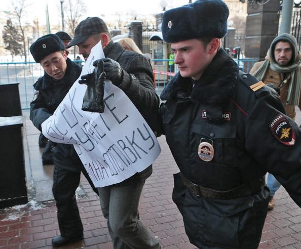 Акция против Кадырова в Москве завершилась в полиции