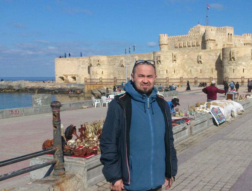 Сабир Ситдиков в Александрии. Февраль  2016 год.
