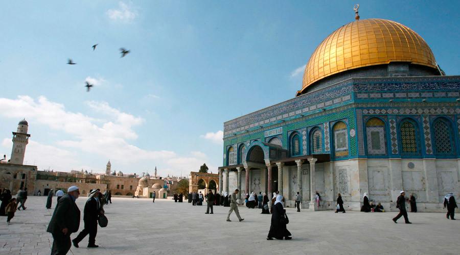 Мечеть Куббат ас-Сахра, расположенная рядом с Аль-Аксой
