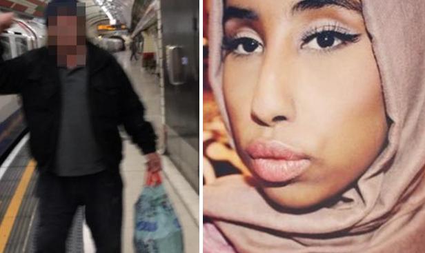 Разыскиваемый полицией правонарушитель и пострадавшая мусульманка