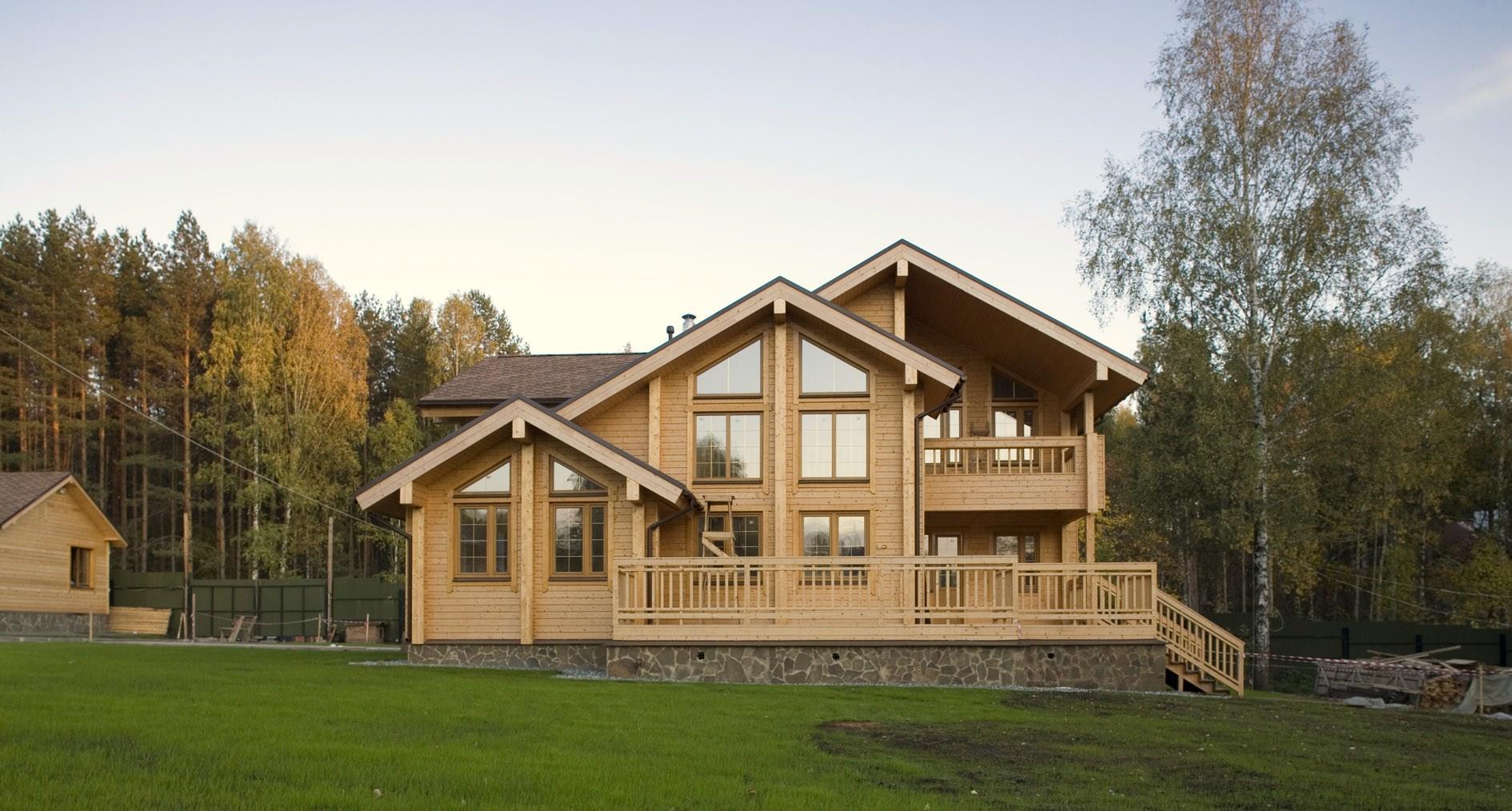 Красивые дома из бруса фото