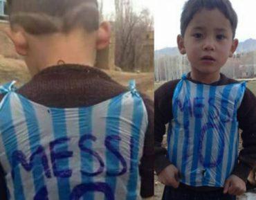 Талибы угрожали семье мальчика, получившего от Месси футболку