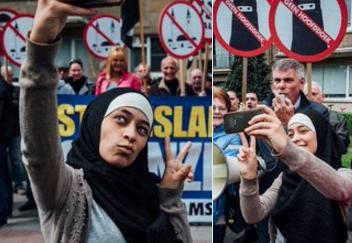 Девушка в хиджабе одним жестом остановила расистов – как?