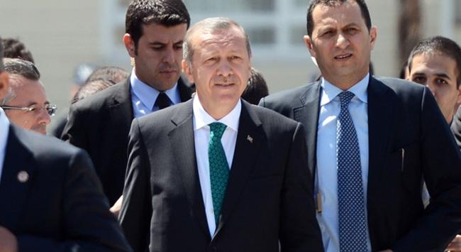 Эрдоган с охраной
