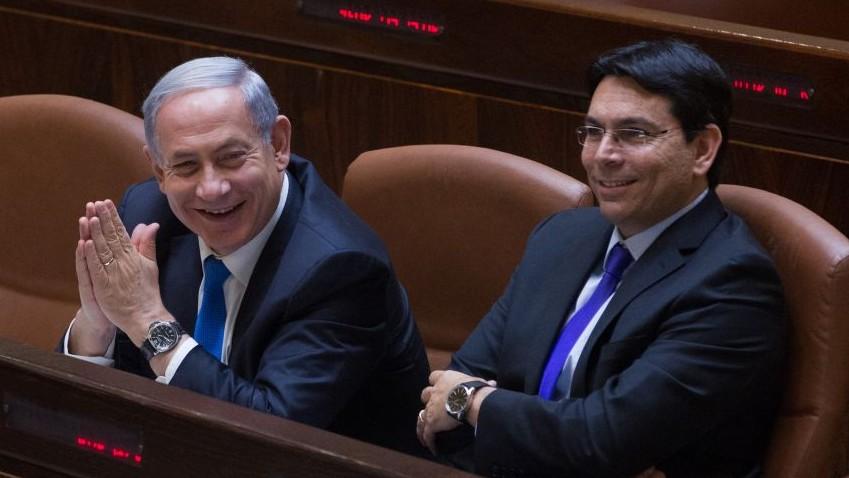 Биньямин Нетаньяху и Данни Данон