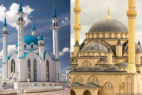 Мечети Кул-Шариф и Сердце Чечни