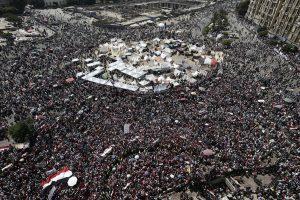 ITAR-TASS: CAIRO, EGYPT. JUNE 30, 2013. Demonstrators rally against the policy by President Mohammed Morsi (Mursi) in Cairo's Tahrir Square on the first anniversary of his inauguration. (Photo ITAR-TASS / Denis Vyshinsky) Åãèïåò. Êàèð. 30 èþíÿ. Âî âðåìÿ äåìîíñòðàöèè îïïîçèöèè ïðîòèâ ïîëèòèêè ïðåçèäåíòà Åãèïòà Ìîõàììåäà Ìóðñè íà ïëîùàäè Òàõðèð. Ôîòî ÈÒÀÐ-ÒÀÑÑ/ Äåíèñ Âûøèíñêèé