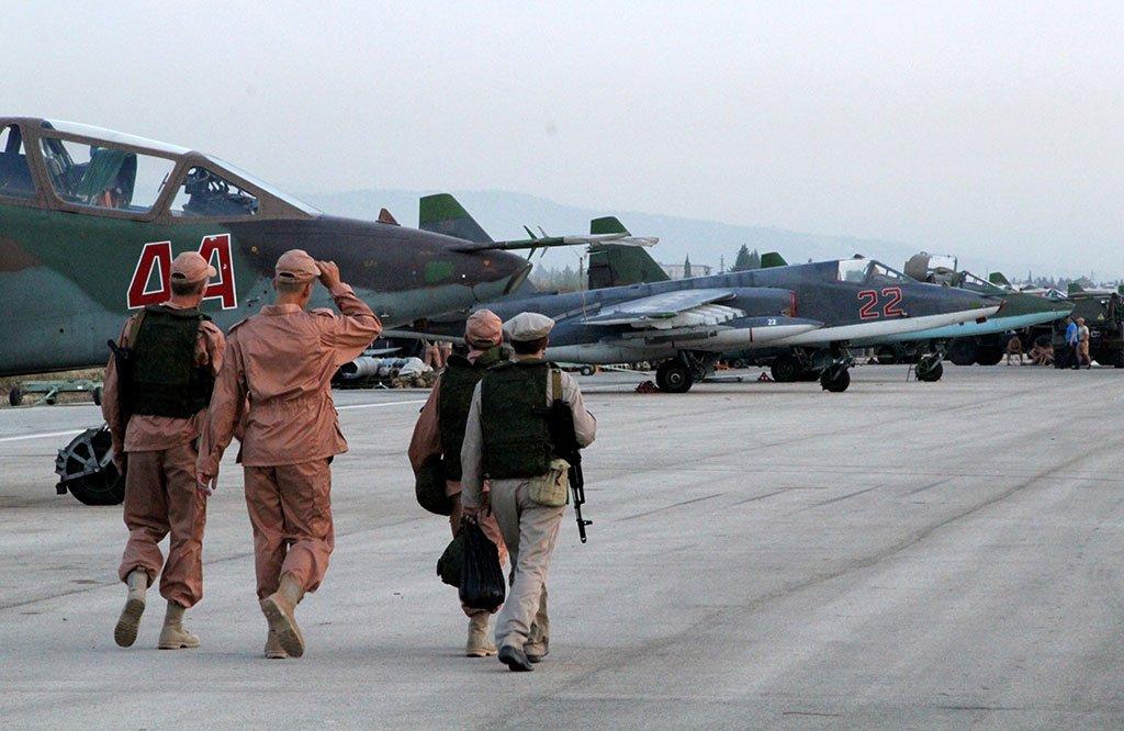 Самолеты ВКС РФ на сирийской авиабазе Хмеймим