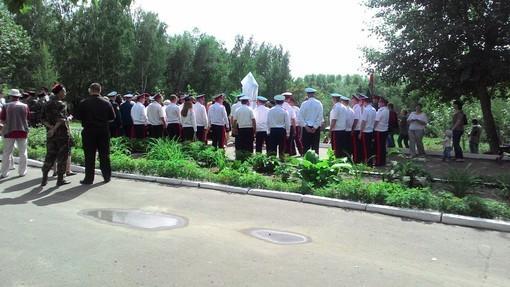На церемонии было много представителей полиции