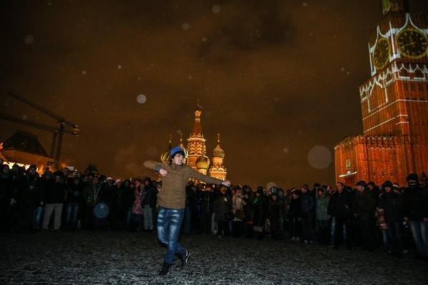 Лезгинка в центре Москвы