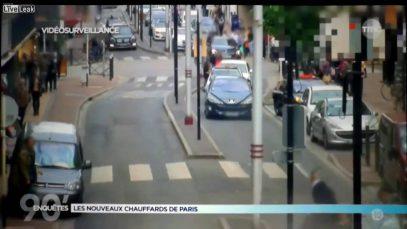 Французские прохожие приходят в себя после проезда арабского свадебного кортежа (ВИДЕО)