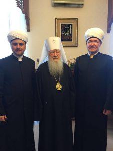 Рушан Аббясов, митрополит Ювеналий и Равиль Гайнутдин