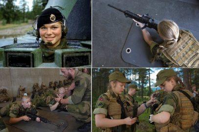 Военные мужчины и женщины Норвегии спят вместе