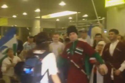 Кавказцы изумили олимпийцев в Шереметьево (ВИДЕО)