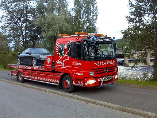 Оперативная транспортировка неисправной машины на эвакуаторе