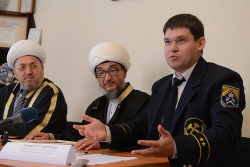 муфтий Абдуль-Куддусс и заведующий кафедрой теологии УГГУ Алексей Старостин