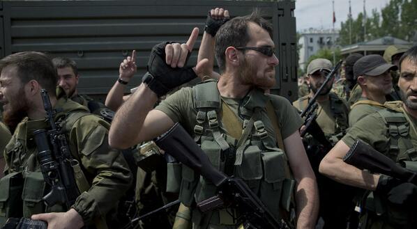 Чеченские бойцы