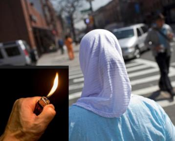 Мусульманку в хиджабе подожгли на глазах толпы