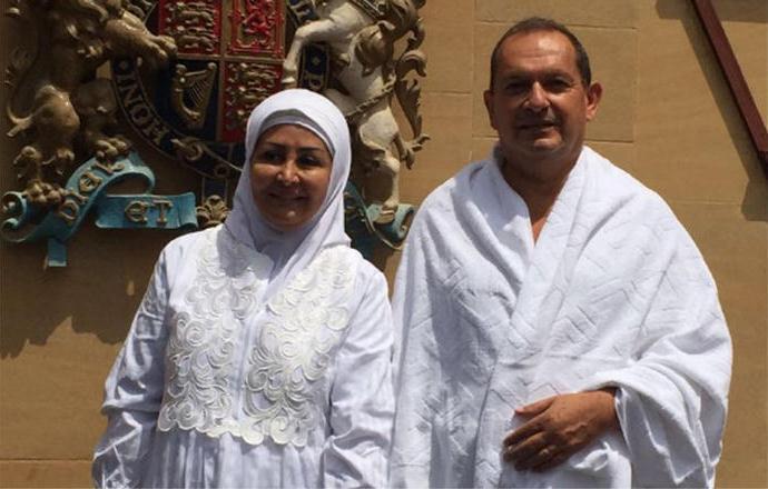 Саймон Коллинз с супругой в Мекке