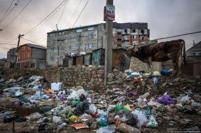 Столица Дагестана утопла в грязи (ВИДЕО)