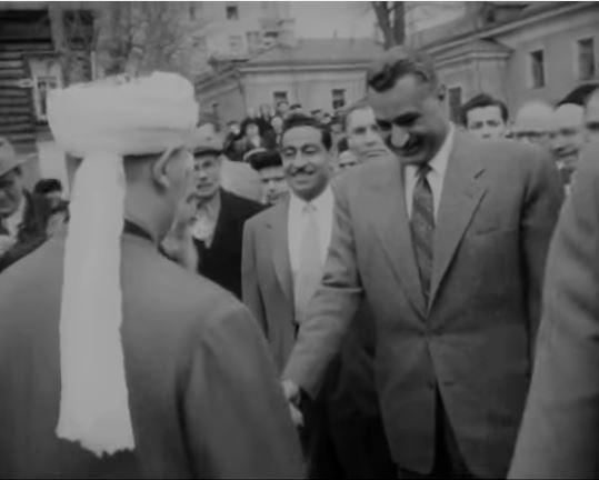 Джамаль Абд ан-Насер в московской мечети 1958 год