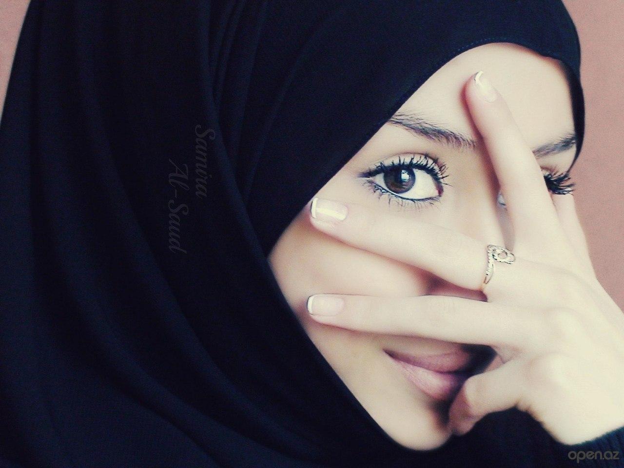 Девушек в хиджабе без лица фото на аву