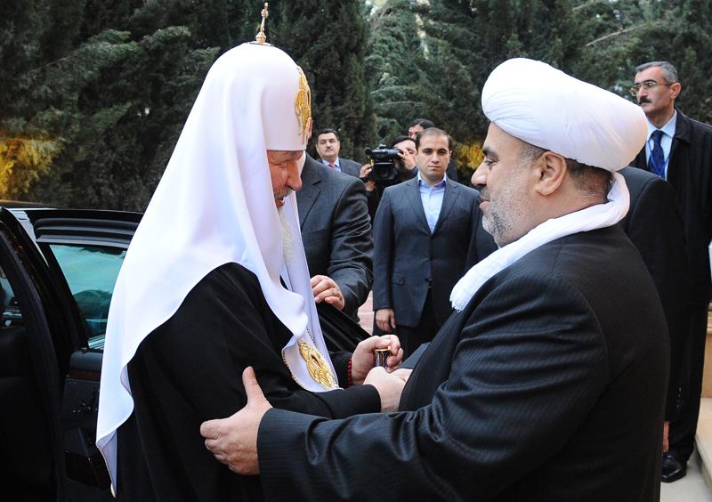 Патриарх Кирилл Гундяев и шейх уль ислам Аллахшукюр Пашазаде