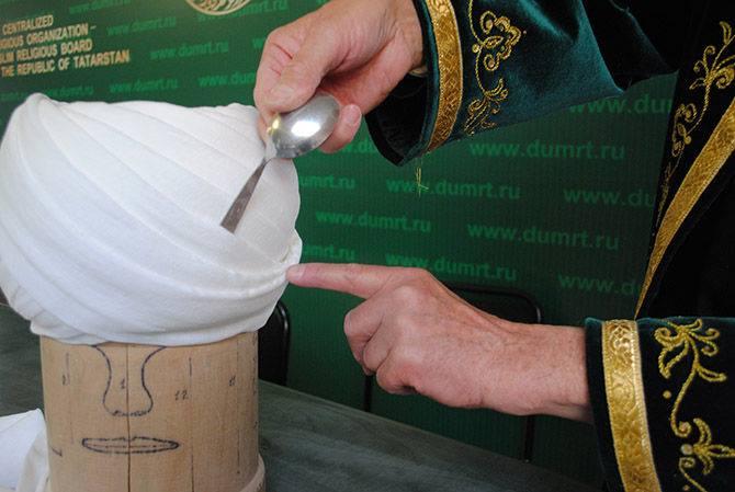 Мастер-класс наматывания чалмы от ДУМ Татарстана