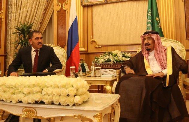 Евкуров и монарх Саудовской Аравии обсудили вопросы борьбы стерроризмом