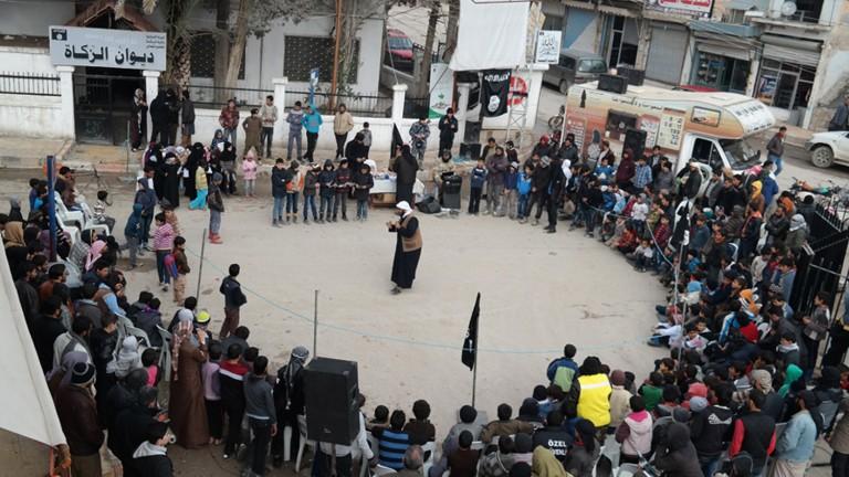 Боевики в Ракке