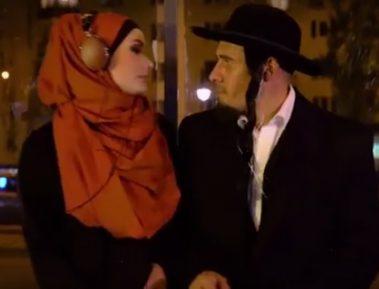 Скандальный ролик с целующимися мусульманкой и евреем взорвал сеть