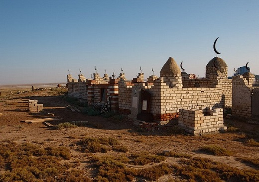 Кладбище в Казахстане