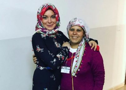 Линдси Лохан остановили в аэропорту из-за хиджаба