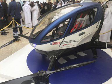 В Дубае запускают первое в мире летающее такси (ВИДЕО)
