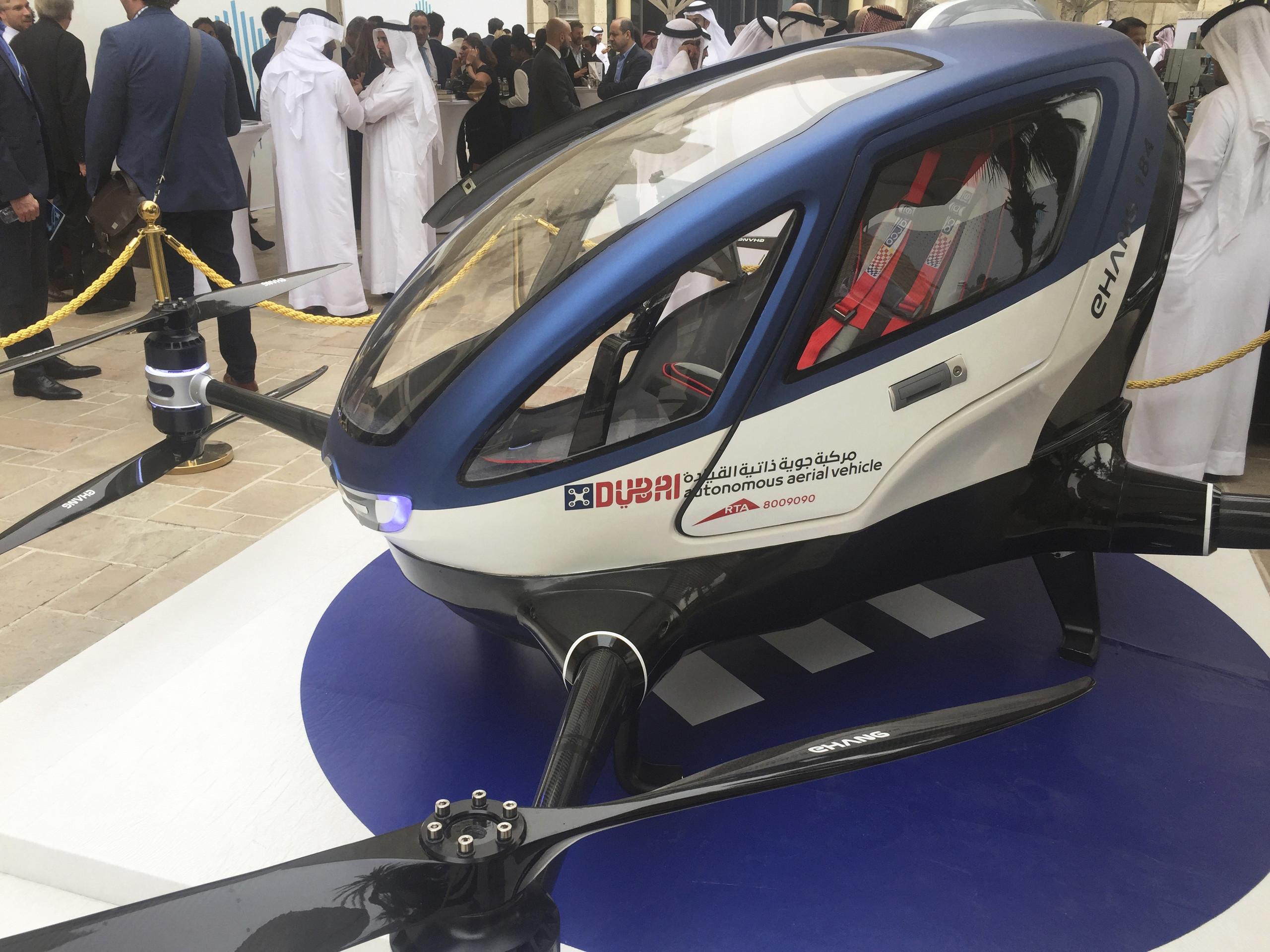 Первое летающее беспилотное такси заработает уже в2015-м году
