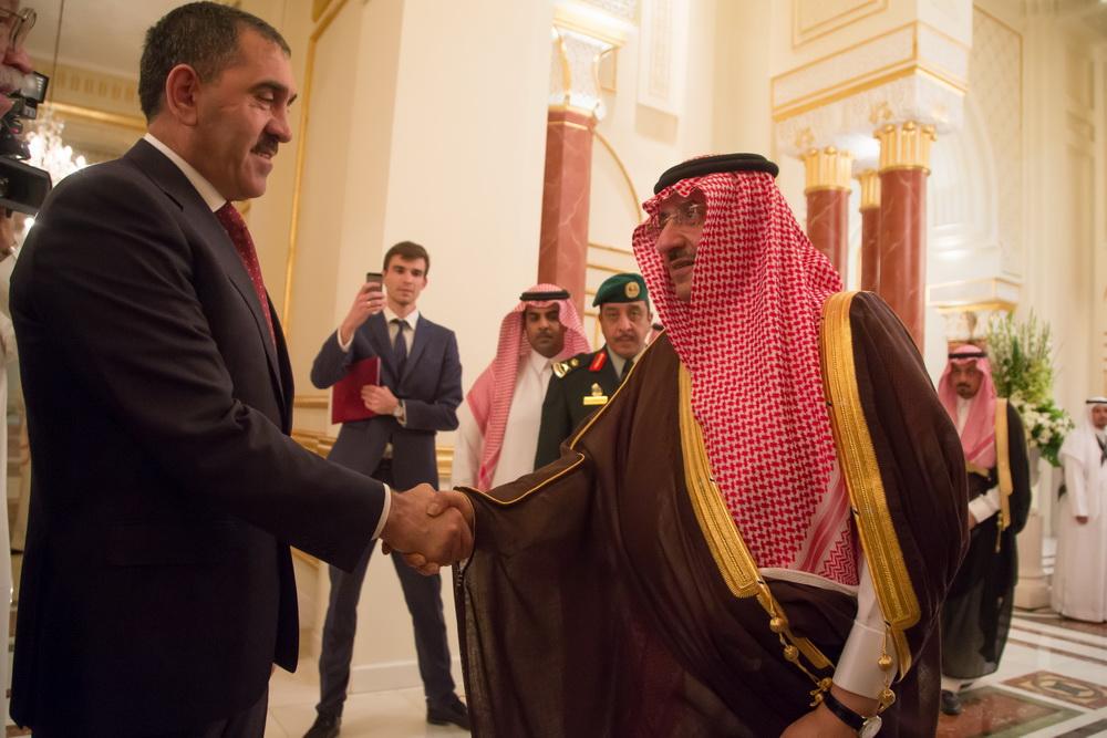 Наследный принц Саудовской Аравии Мухаммед Бен Наеф встречает главу Ингушетии