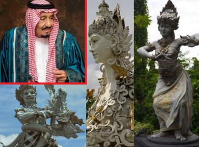 Саудовский король привез на языческий остров тонны халяля и рентгеновский аппарат