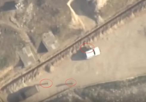 Азербайджанские военные сняли на видео уничтожение штаба ВС Армении