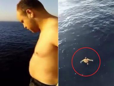 Алжирский моряк спас кита, рискуя жизнью (ВИДЕО)