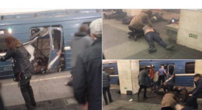 Опубликовано видео с места взрыва в петербургском метро