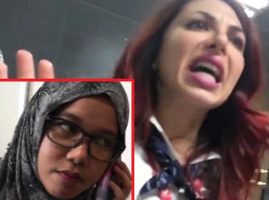 Девушка в хиджабе пережила ужас в аэропорту Рима (ВИДЕО)