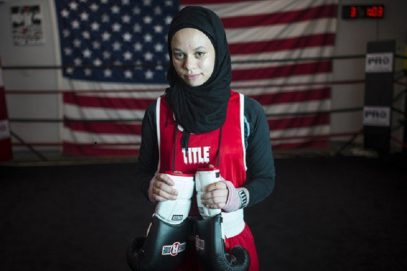 Американка выйдет на боксерский ринг в хиджабе