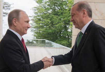 Переговоры президентов России и Турции начались с шутки Владимира Путина