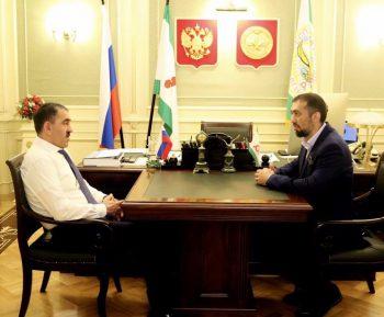 Глава Ингушетии встретился с известным мусульманским деятелем России