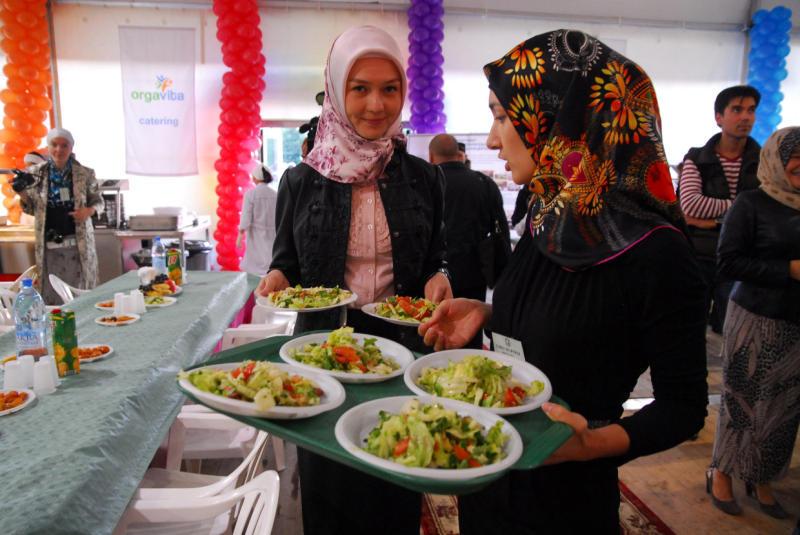 Волонтеры «Шатра Рамадана»