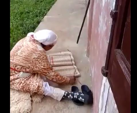 Пожилая марокканка использует редкую древнюю технику заучивания Корана (ВИДЕО)